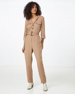 Hallhuber Overall aus TENCEL™ für Damen in camel