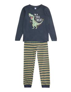 Jungen Pyjama mit Dino-Print