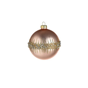 Weihnachtskugel Pearl, Glas, D:8cm, rosa