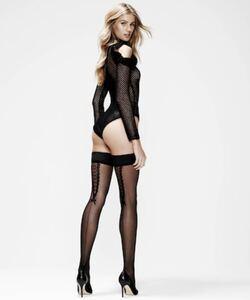 Hunkemöller Stay-ups 20 denier Pretty Lace Schwarz