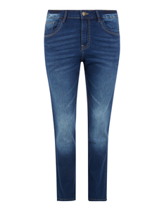 Damen Straight Fit Stone Washed Jeans