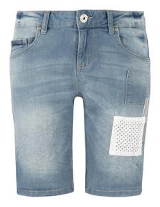 Damen Jeansshorts mit Aufnähern