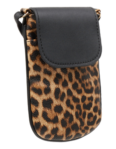 Damen Crossbody Bag mit Leopardenmuster
