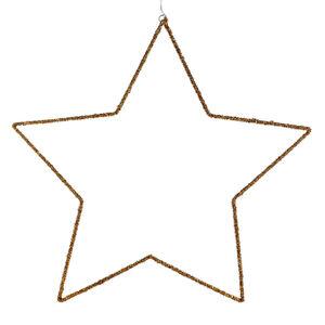Lichtobjekt Stern, 60LED, D:60cm, Batterien, gold