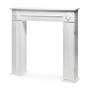Kaminkonsole, 100x19x100cm, weiß