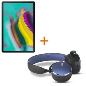 Samsung Galaxy Tab S5e T720N WiFi Tablet Schwarz + AKG Kopfhörer Y500 Wireless, Blau