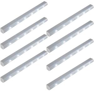8 LED-Lichtleisten mit Bewegungsmelder
