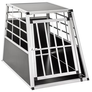 Hundetransportbox single mit gerader Rückwand 65 x 90 x 69,5cm