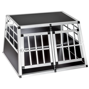 Hundetransportbox doppel mit gerader Rückwand 89 x 69 x 50 cm