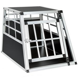 Hundetransportbox single mit gerader Rückwand 54 x 69 x 50 cm