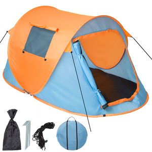 Pop-Up Wurfzelt blau/orange