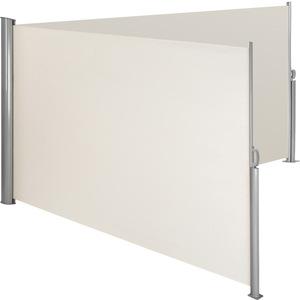 Alu Doppel Seitenmarkise beige 180 x 600 cm