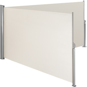 Alu Doppel Seitenmarkise beige 200 x 600 cm