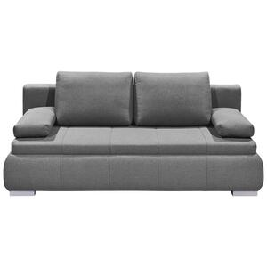 Sofa mit Schlaffunktion in Hellgrau 'Norman LUX.3DL'