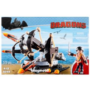 Playmobil Dragons Eret mit 4-Schuss-Feuer-Balliste - 9249