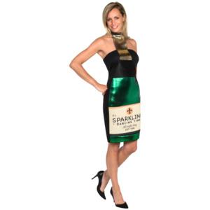 Champagnerflasche-Partykleid