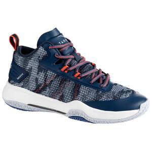 Basketballschuhe SC500 Mid Damen blau/rosa
