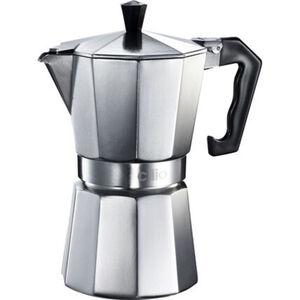 Cilio Espressokocher CLASSICO, 3 Tassen, silber