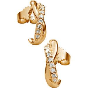 Vandenberg Damen Ohrstecker, 375er Gelbgold mit Diamanten, gold, keine Angabe