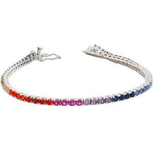 Vandenberg Damen Armband, 925er Silber, bunte Zirkonia, silber, keine Angabe