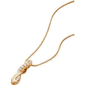 Vandenberg Damen Kette mit Anhänger, 375er Gelbgold Diamanten, gold