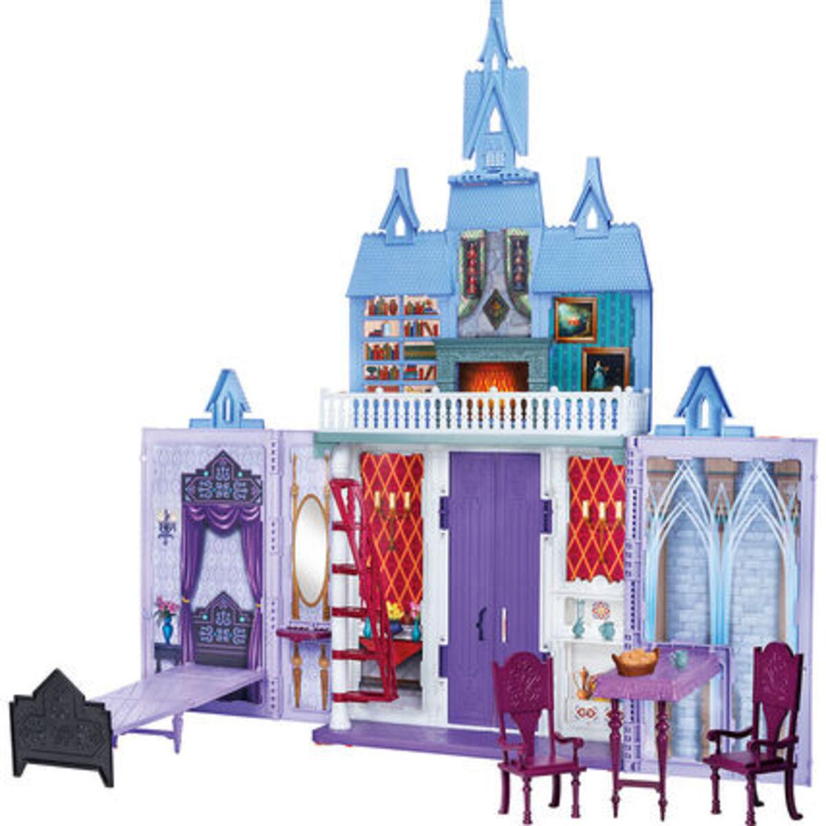 """Bild 1 von Hasbro Puppenhaus Arendelle Schloss für unterwegs """"Disney Die Eiskönigin"""", lila/blau"""