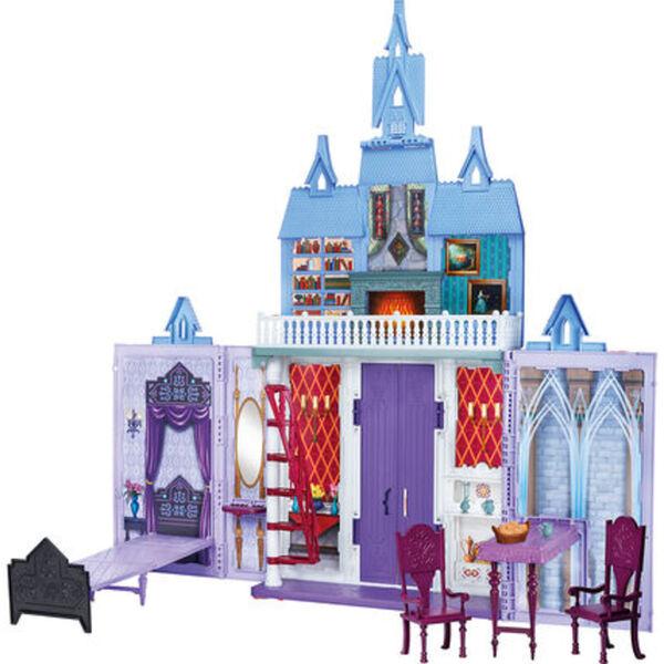 """Hasbro Puppenhaus Arendelle Schloss für unterwegs """"Disney Die Eiskönigin"""", lila/blau"""