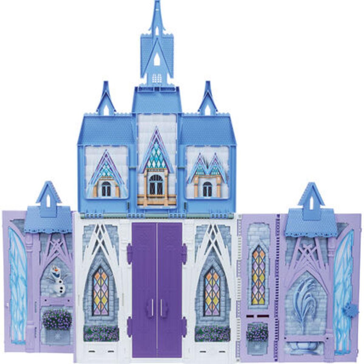 """Bild 2 von Hasbro Puppenhaus Arendelle Schloss für unterwegs """"Disney Die Eiskönigin"""", lila/blau"""