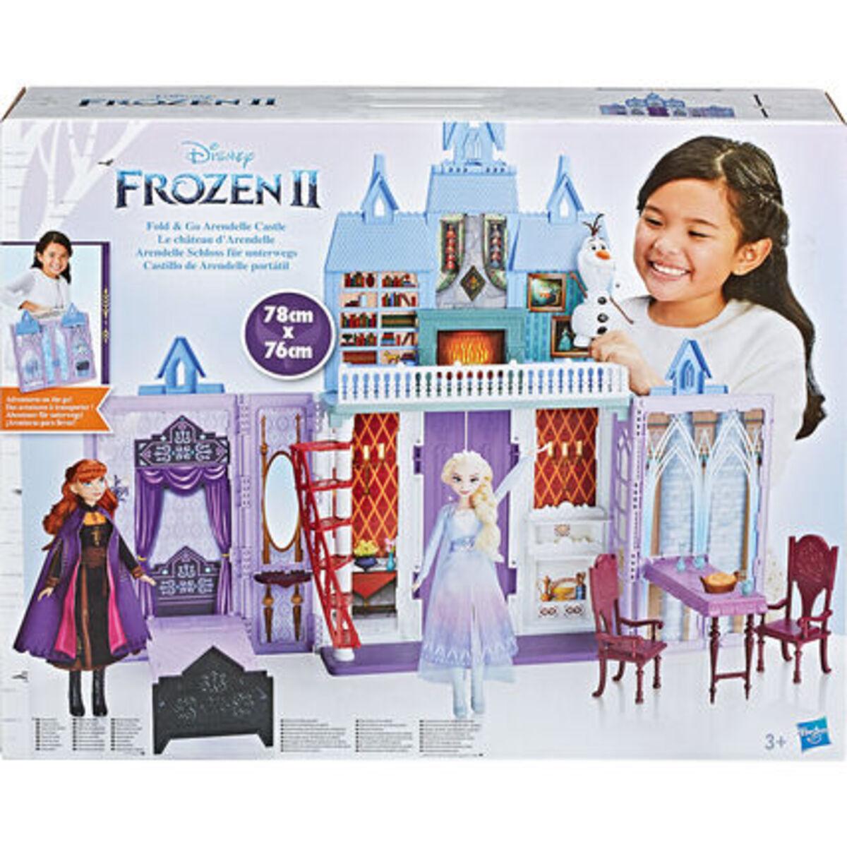 """Bild 3 von Hasbro Puppenhaus Arendelle Schloss für unterwegs """"Disney Die Eiskönigin"""", lila/blau"""