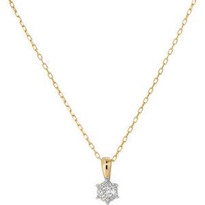 Vandenberg Damen Kette mit Anhänger, 585er Gelbgold Diamanten, gold