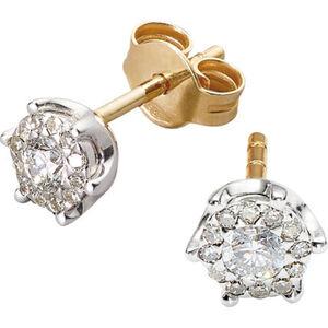 Vandenberg Damen Ohrstecker, 585er Gelbgold mit Diamanten, gold, keine Angabe