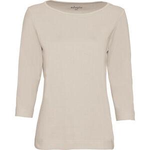 Adagio Shirt mit U-Boot-Ausschnitt, 3/4 Ärmel