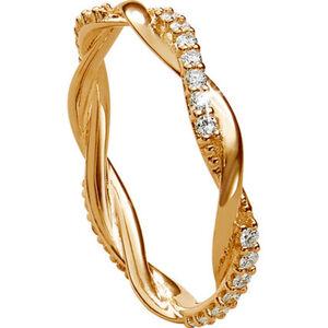 Vandenberg Damen Ring, 375er Gelbgold mit Diamanten, 56, gold