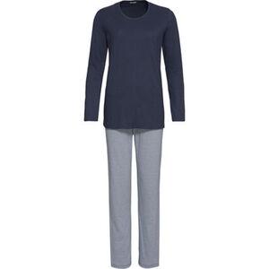 Schiesser Schlafanzug, 2-teilig, lang, Single-Jersey, für Damen