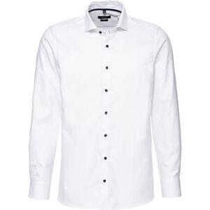manguun collection Businesshemd, Body Fit, Baumwolle, Kontrast-Knöpfe, Kent-Kragen, für Herren