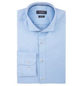 manguun collection Businesshemd, geometrisches Muster, Body Fit, Kent-Kragen