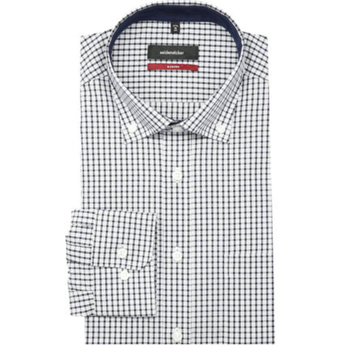 Bild 1 von Seidensticker Herren Businesshemd, 1/1-Arm, Button Down, Modern Fit