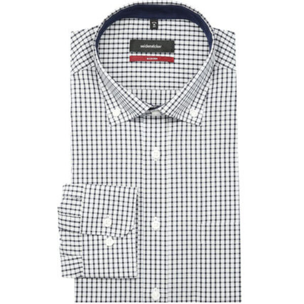 Seidensticker Herren Businesshemd, 1/1-Arm, Button Down, Modern Fit