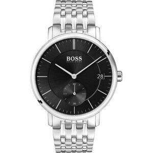 """BOSS Watches Herrenuhr Corporal """"1513641"""", silber"""