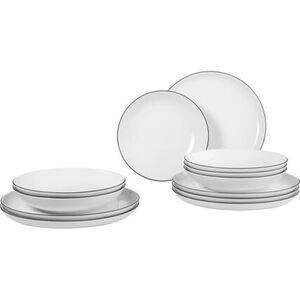 """Seltmann Weiden Porzellan Tafel-Set """"Lido"""", rund, 12-teilig"""