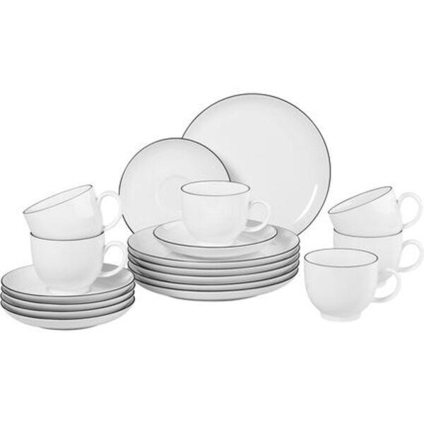"""Seltmann Weiden Porzellan Kaffee-Set """"Lido"""", rund, 18-teilig"""