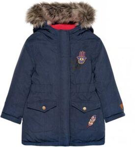 Wintermantel mit Patches  dunkelblau Gr. 104/110 Mädchen Kleinkinder