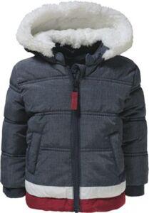 Baby Winterjacke mit Teddyfutter  dunkelblau Gr. 80 Jungen Baby