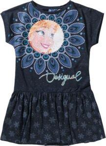 DISNEY DIE EISKÖNIGIN Kinder Jerseykleid mit Wendepailletten blau Gr. 146/152 Mädchen Kinder