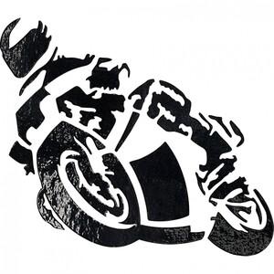 POLO Aufkleber Biker klein chrom