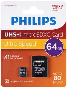 PHILIPS  Speicherkarte microSDXC »FM64MP45B/00«