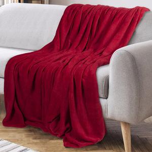 Bella Casa XXL-Mikrofaser Flauschdecke, ca. 210 x 280cm - Salsa Rot