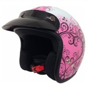 Nikko Jethelm Ramona, pink gemustert, Größe L