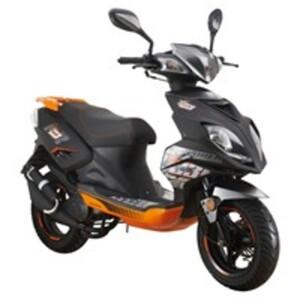 Explorer Speed 50 Motorroller 2016 schwarz/orange, 45 km/h