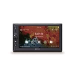 "Sony XAV-AX100 Autoradio/Mediacenter mit Sprachsteuerung, farbiges 6,4"" (16,3 cm) Touchscreen-Display, Apple CarPlay/Android Auto, Navigation, Bluetooth, 2-DIN"
